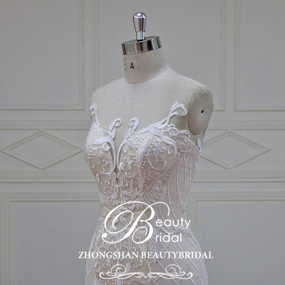 Eslieb 100% πραγματικές φωτογραφίες Robe - Γαμήλια φορέματα - Φωτογραφία 5