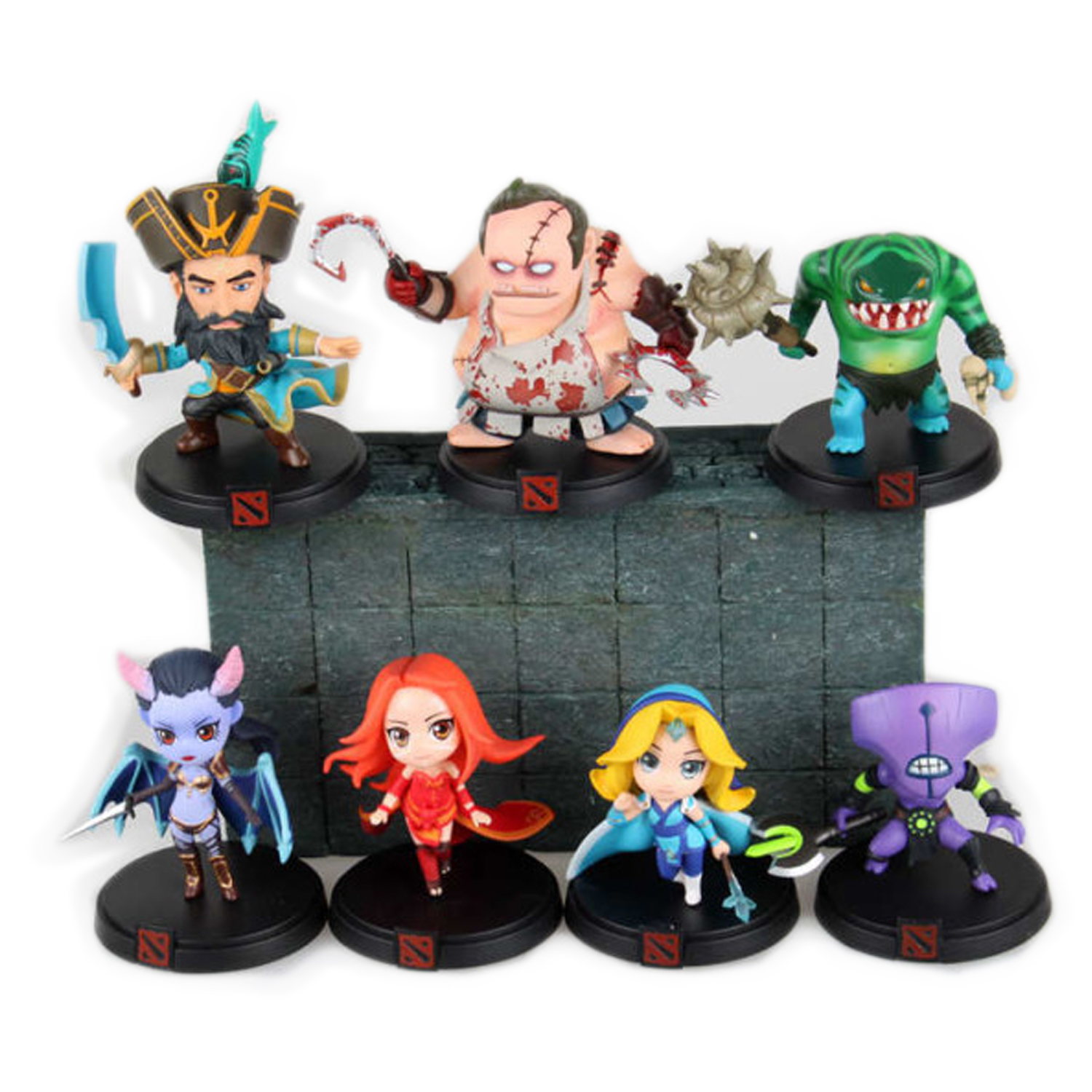все цены на  Chanycore Serfdom DOTA 2 Game Figure Pudge Leviathan Crystal Maiden Lina Queen Kunkka Tidehunter PVC Action Figures dota2 Toys  в интернете