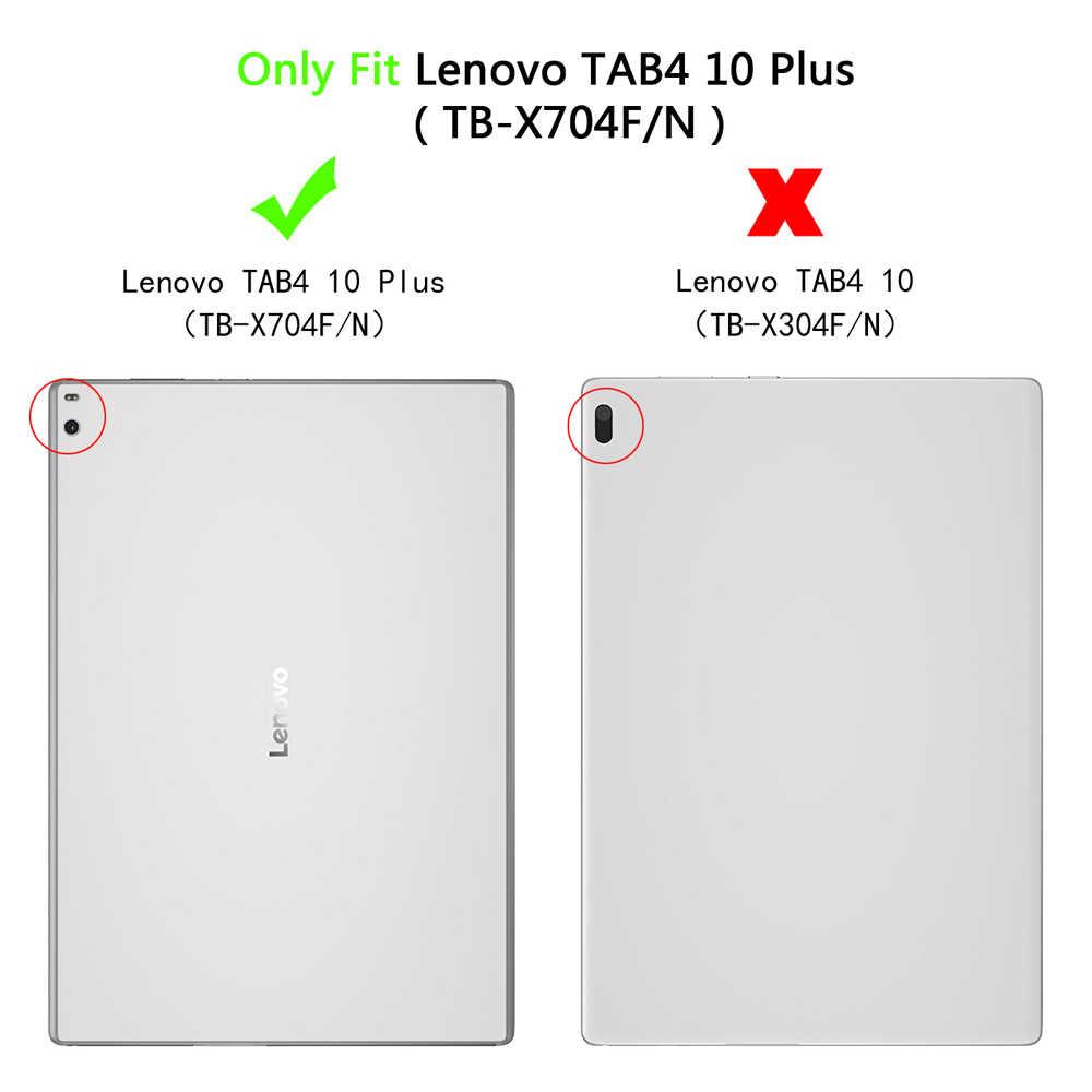 ضئيلة حالة لينوفو TAB4 10 زائد TB-X704F/N اللوحي بو الجلود حامل قابل للطي غطاء لجهاز Lenovo TAB4 10 زائد TB-X704F/ N اللوحي