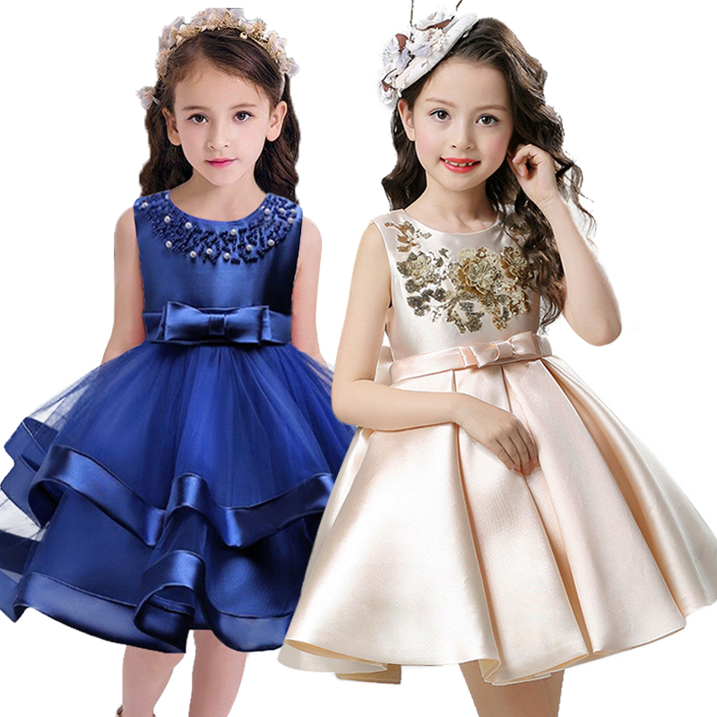 Girl Dress Children Clothing Wedding Party Girls Dresses first birthday Clothes Newborn Princess Infant Dress Girl Red champagne summer 2017 new girl dress baby princess dresses flower girls dresses for party and wedding kids children clothing 4 6 8 10 year