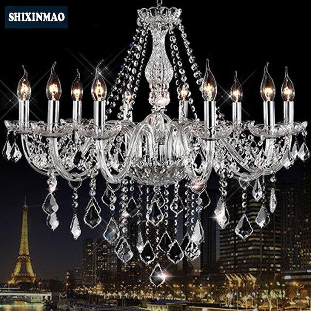 ФОТО SHIXNIMAO Luxury Electric Crystal Chandelier 6Arm/8Arm/10Arm/15Arm Crystal lamp Crystal Chandelier