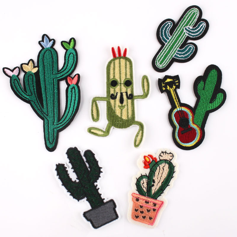 The clothes stick men and women baby handmade cloth decorative clothing affixed with adhesive cactus love tropical potted cactus
