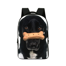 Mens dog print laptop bakcpack computer bag for Notebook 14 cool bookbags for college students boys