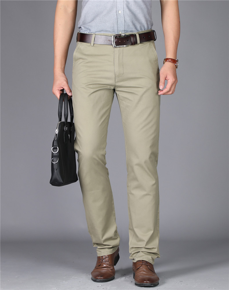 MRMT 2019 Brand New Mens High-waisted Trousers Pure Color Men's Pants For Male Cotton Thin Pant Man Straight Trouser