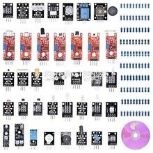 Boîte 37 en 1 KITS de capteurs pour Arduino R3 haute qualité avec boîte en plastique et CD livraison gratuite