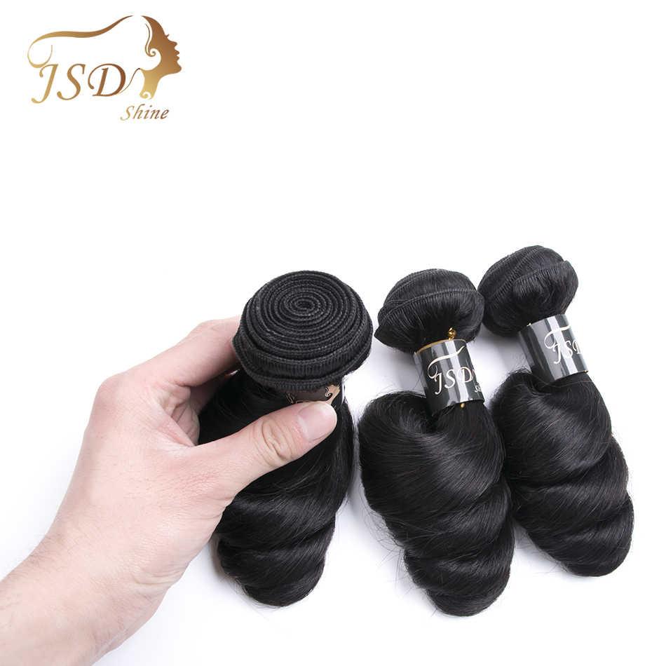 Jsdshine Braziliaanse Haar Weave Losse Golf Bundels Natuurlijke Zwarte 1/3/4 Stks/partij 100% Menselijk Haar Bundels Remy hair Extensions