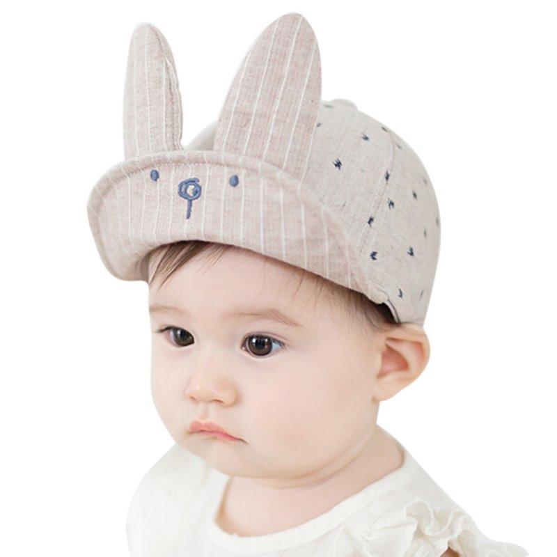 Nuevo Bebé lindo de los niños Niños Niñas del verano del oído del conejito Sol  visera de béisbol boina sombrero gorras x16 4389326e4f2