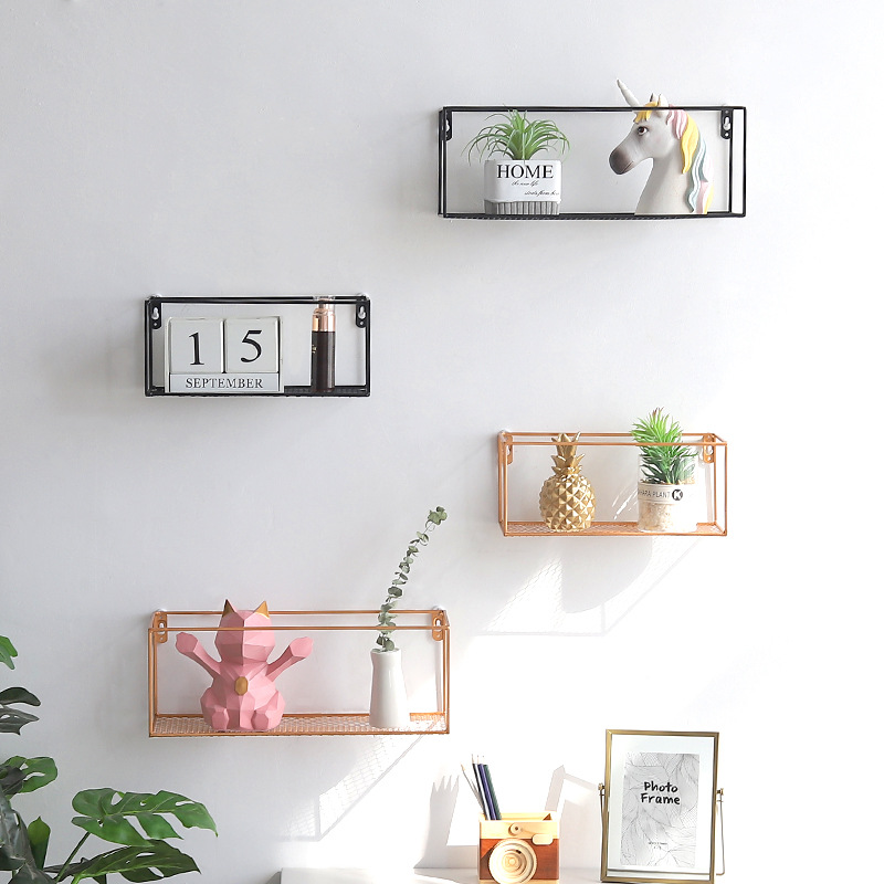 Innovative Wall Mounted Display Shelf Bedroom Wall Hanging Iron Basket Punch Free Flower Pot Rack Decorative Shelves Buy At The Price Of 13 80 In Aliexpress Com Imall Com