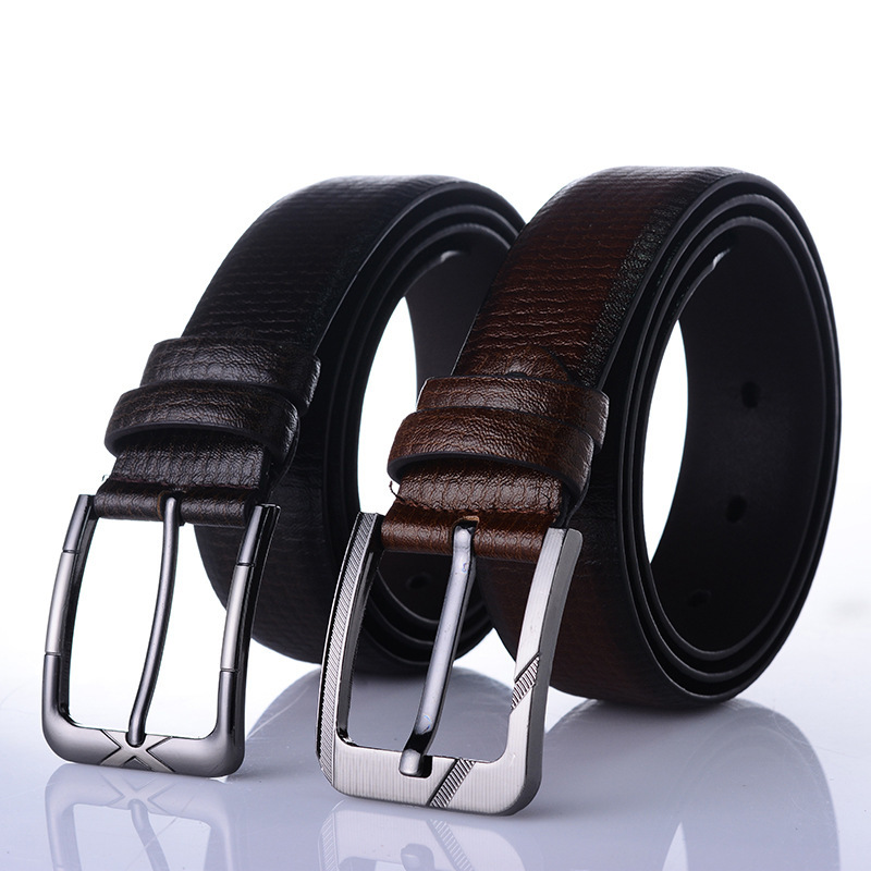 2019 High Quality Business Leisure Wide Men   Belt   Man PU Faux Leather Designer   Belts   Luxury Brand Designe Elegant Buckle Metal