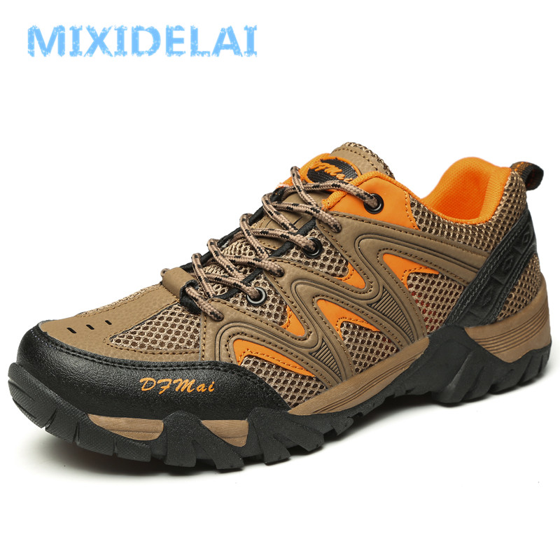 MIXIDELAI 2019 Spring Summer Breathable Male Mesh Shoes For Men Sneakers Adult Walking Brand Casual Light Footwear Men Shoes