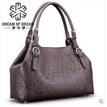 mengzhongmeng  new import ostrich leather Women's one-shoulder bag style slanting handbag female fashion leisure women bag