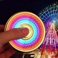 Colorful Led Ferris Wheel Aluminium Torqbar Hand Spinner Luminous Rainbow Color Autism And ADHD Kids Adult