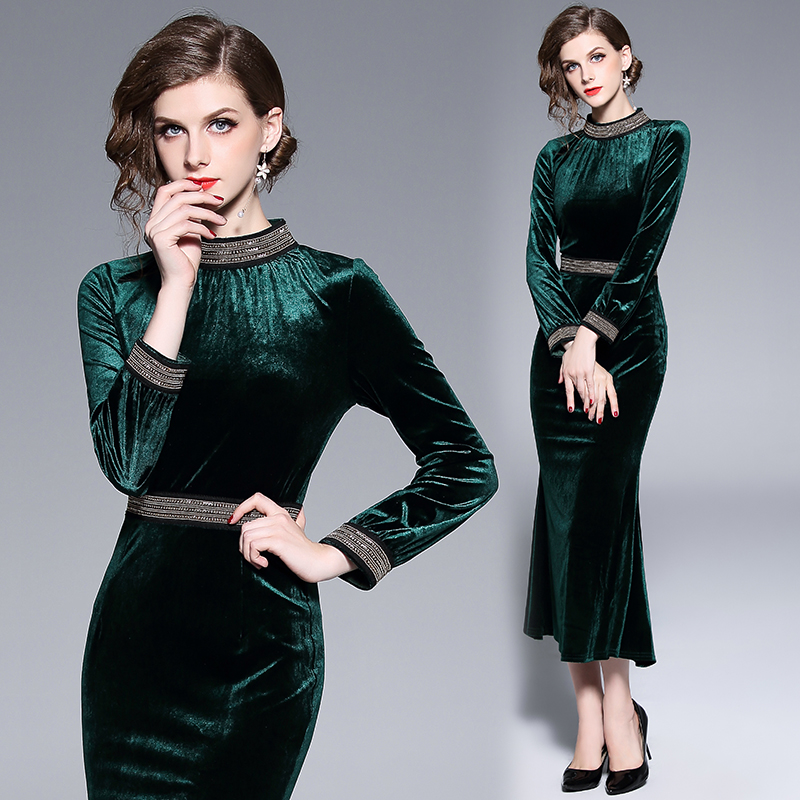 Buy velvet dress long mermaid and get free shipping on AliExpress.com 613f4c9fbbe3
