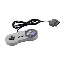 Para Nintendo NES 16 Bit Controlador de Jogo Clássico Gamepad Para Super Nintendo SNES Control System Console Pad
