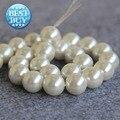Collar y pulsera 14 mm concha blanca perlas de perlas SeaShell regalos de DIY para para chica flojo de los granos fabricación de la joyería diseño 15 pulgadas