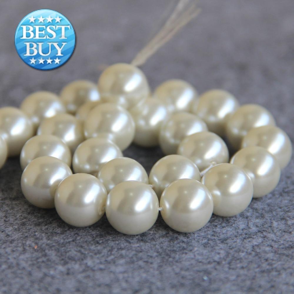 Pour Collier et Bracelet 14mm Blanc Shell Perle Perles Coquillage BRICOLAGE  Cadeaux Pour Femmes Fille Perles Lâches Fabrication de Bijoux conception 15  ... b0a966630a3b