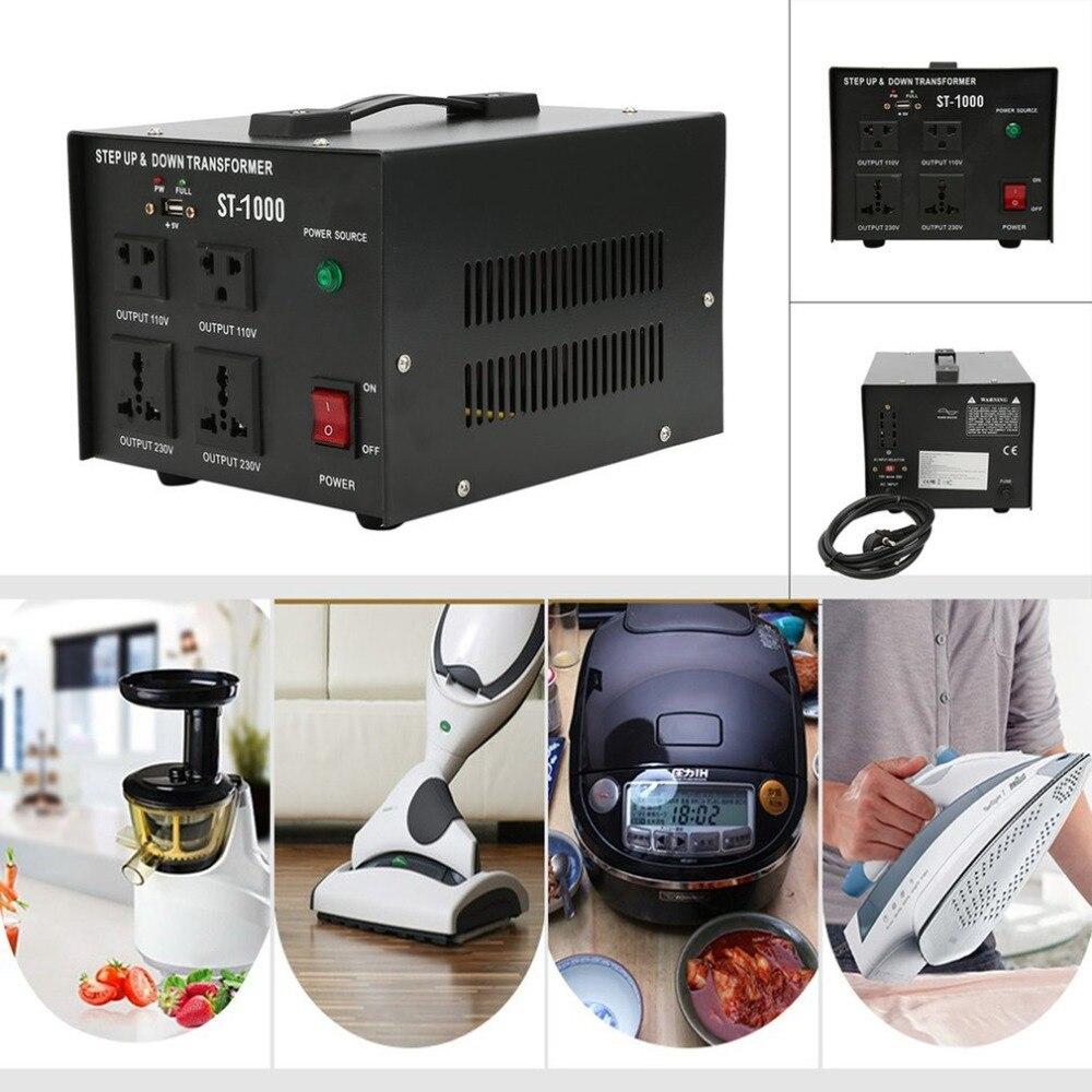 110 v 230 v 2000 w AC Power Convertisseur ST-1000W Étape Up Down Transformateur Pour Presse-agrumes Réfrigérateur Micro-ondes Imprimante UE plug