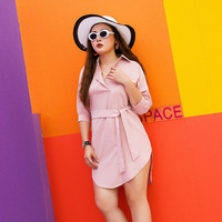 Women Dress 2019 New Large Size Women's Clothes 2008 Summer Fast selling Tong Fat Mm Shirts Direct Selling By Manufacturers