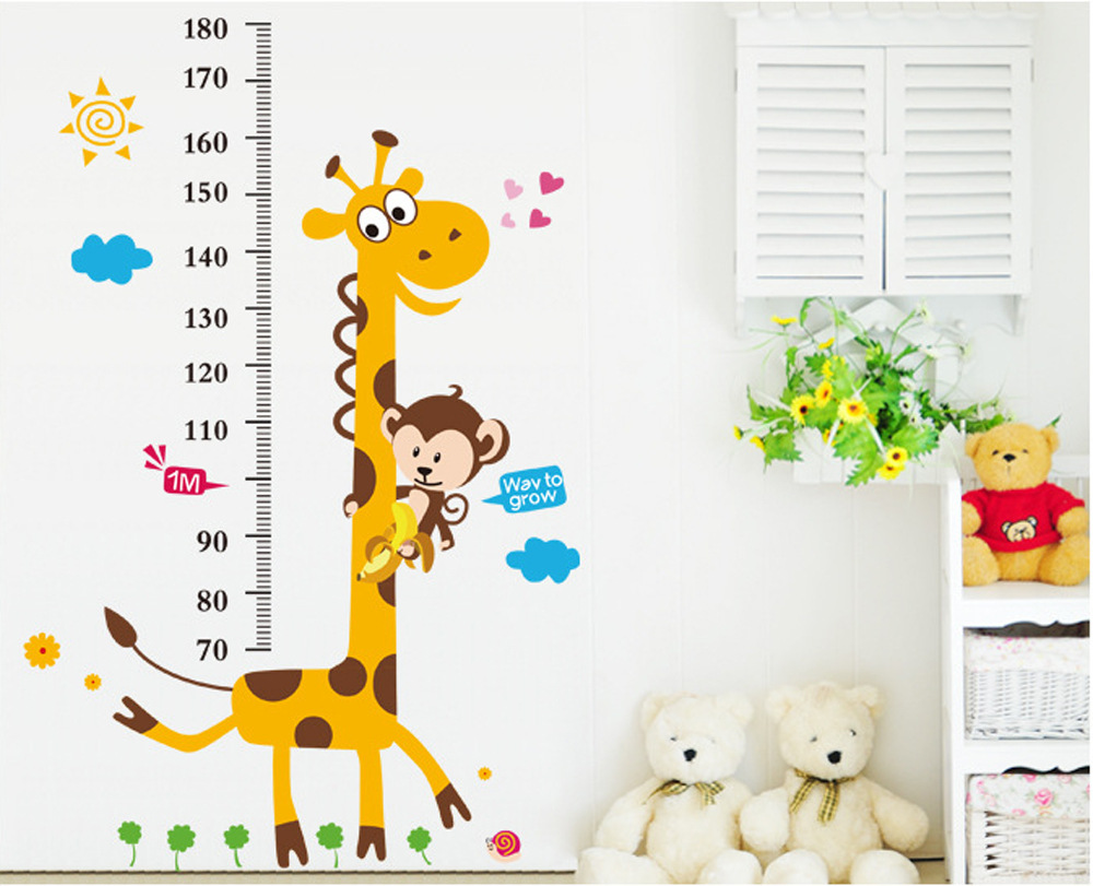 831 kids height chart wall sticker home decor cartoon giraffe height 831 kids height chart wall sticker home decor cartoon giraffe height ruler home decoration room decal wall art sticker wallpaper in wall stickers from home geenschuldenfo Image collections