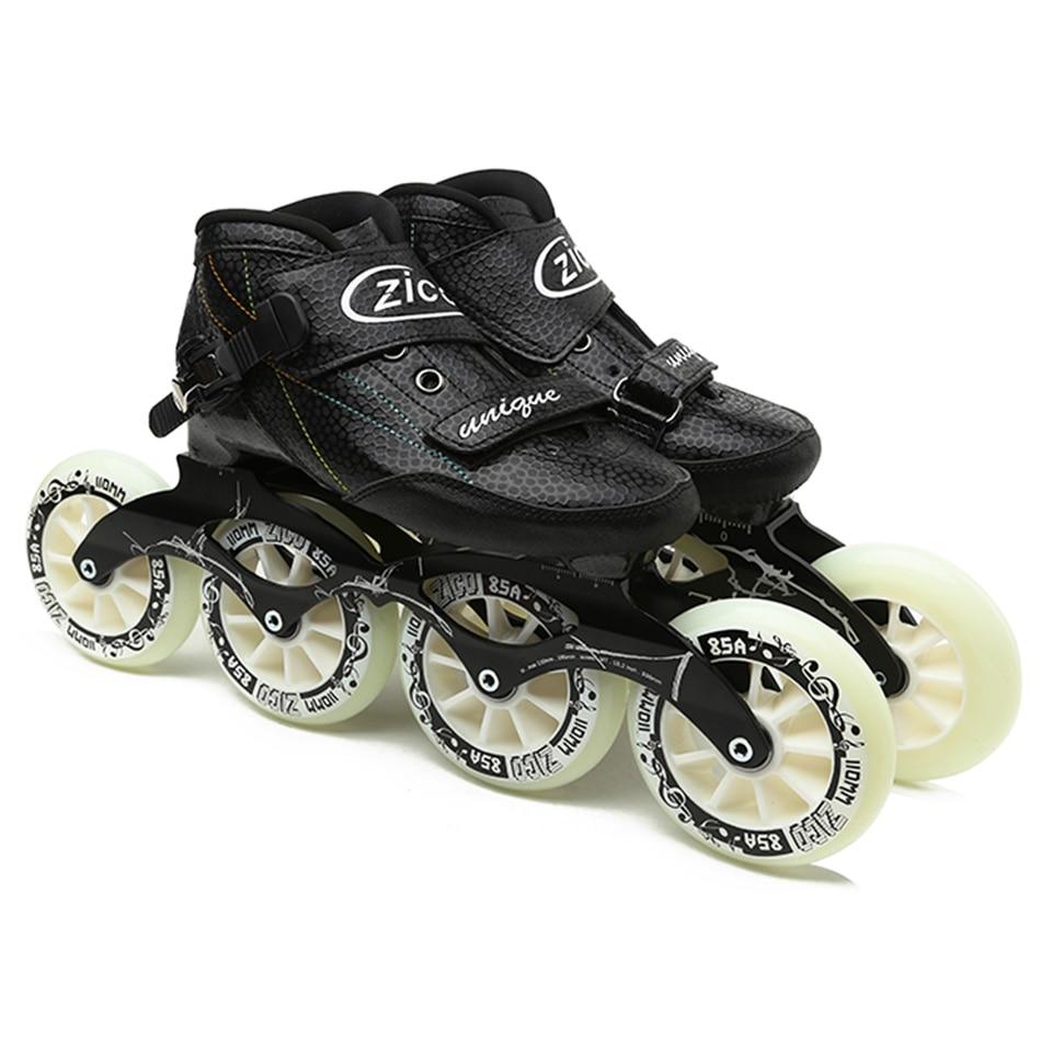 Speed Inline Skates Carbon Fiber 4*90/100/110mm Competition Skates 4 Wheels Street Racing Skating Patines Similar Powerslide цена