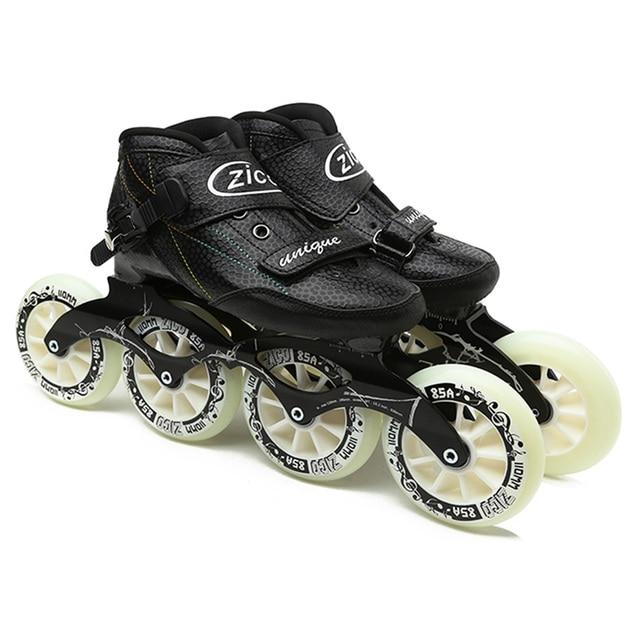 Speed Inline Skates Carbon Fiber 4*90/100/110mm Competition Skates 4 Wheels Street Racing Skating Patines Similar Powerslide