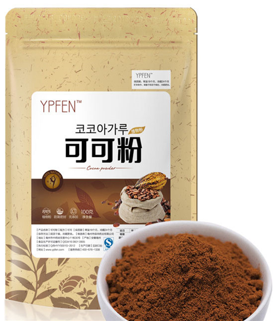 C-TS083 New 100g Organic 100% Purely Green Organic Food.Cocoa powder good for slimming Natural Unsweetened Cocoa Powder bag