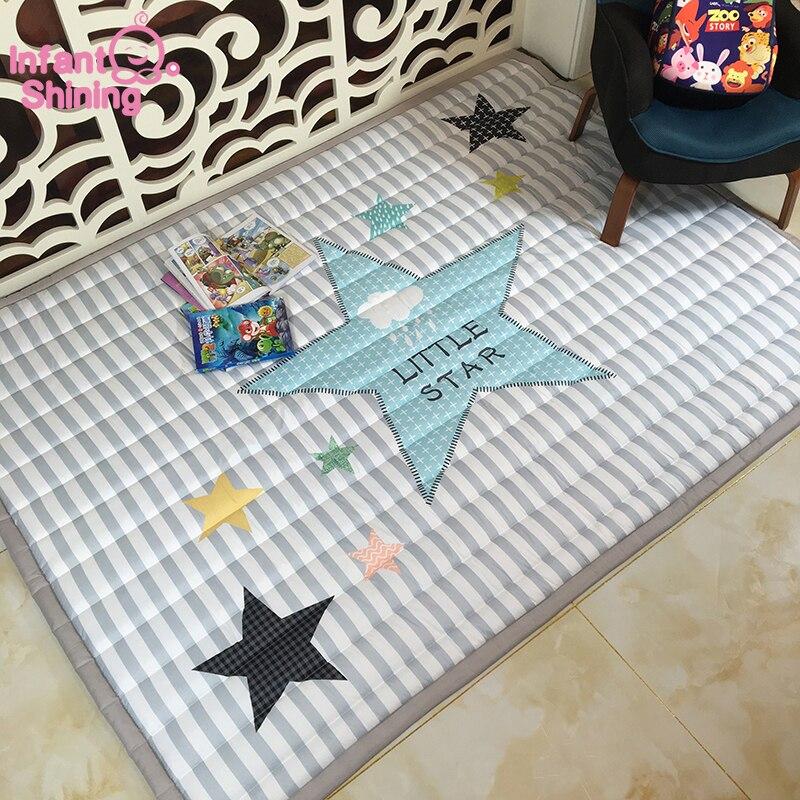 Детский Блестящий 140X195 см игровой коврик 2 см Толщина детский игровой коврик мультфильм гостиная коврик нескользящий детский коврик машинн...