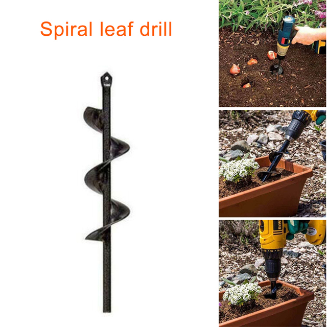 Garden Auger Spiral Indexable Drill Bit for Planting Bedding Bulbs Seedlings CLH@8