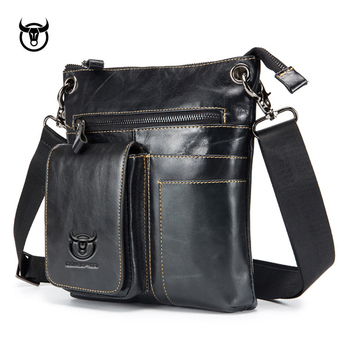 Hot Genuine Leather men's Messenger Bag fashion cow leather Man Bag vintage Shoulder Bags CrossBody Bags for male Handbags Cross Body Bags
