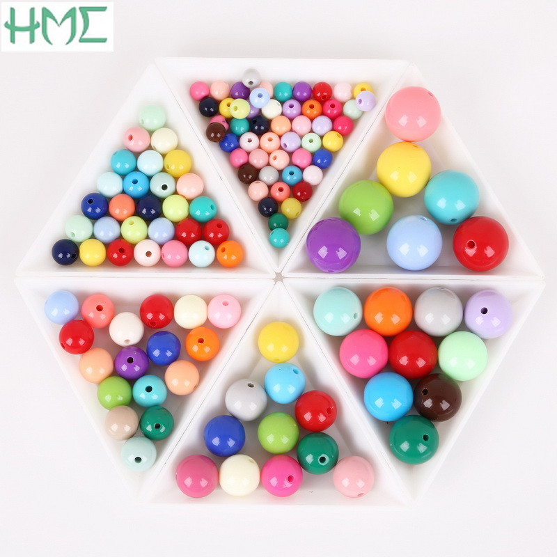 Wholesale 6//8//10//12//14//16mm Random Mixed Imitated Faceted Crystal Round Beads