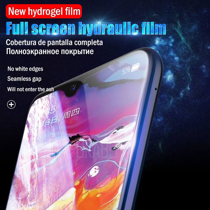 Image 2 - 10D Screen Protector For Samsung Galaxy S10 S9 S8 Plus S10e Note 9 8 Hydrogel For Samsung A7 2018 A5 2017 S7 EDGE soft Film-in Phone Screen Protectors from Cellphones & Telecommunications