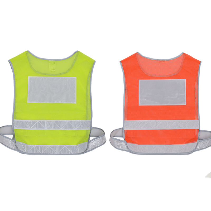 Reflective Vest Outdoor Work Safety Clothes Breathable Mesh Vest Fluorescence Waistcoat For Road Traffic Running Cycling Sport