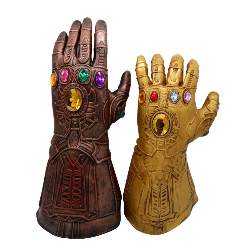 The Avengers Infinity War Gauntlet Thanos Cosplay Glove Latex Thanos Glove Adult Kids Party Costumes Props Funny Gift Toys