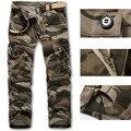 Mens Militar Del Ejército de Camuflaje Pantalones de Carga tamaño M-XXXL multibolsillos Overoles Pantalones tácticos para Los Hombres Pantalones Largos