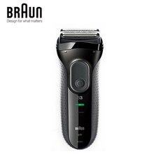 Braun Serie 3 3000 s mannen Elektrische Scheermes 3 Onafhankelijk Drijvende Scheren Elevments Droge & Natte Elektrische Scheerapparaat