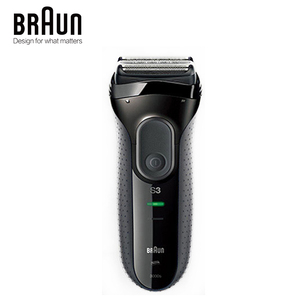 Image 1 - Braun Series 3 3000S Mens Electric Razor 3 Independently Floating Shaving Elevments Dry & Wet Electric Shaver