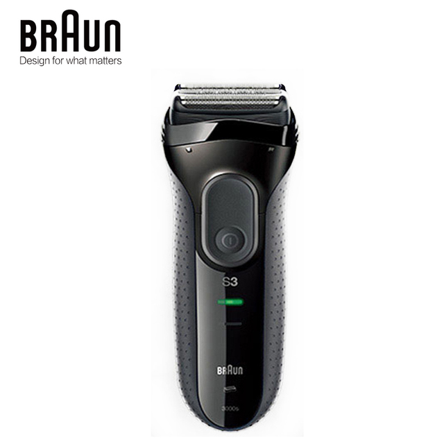 Braun Series 3 3000S Mens Electric Razor 3 Independently Floating Shaving Elevments Dry & Wet Electric Shaver