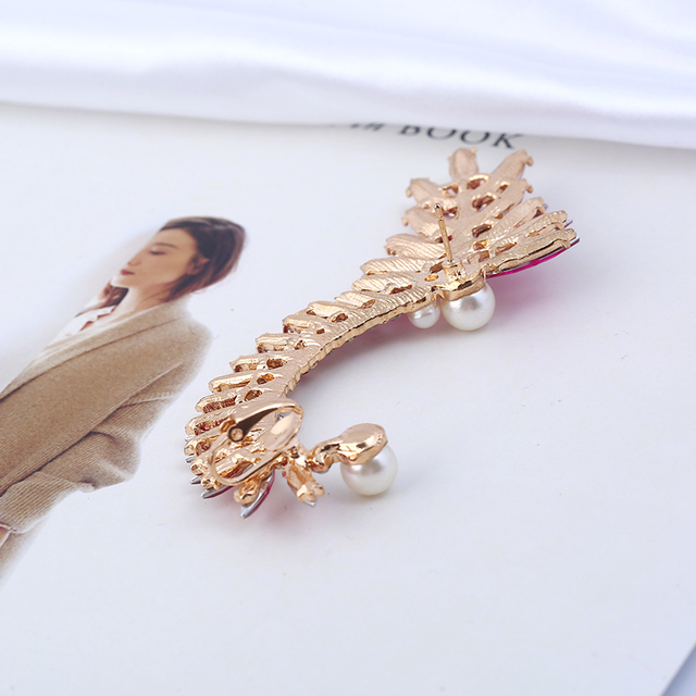 Women's Large Cuff Earring with Pearls