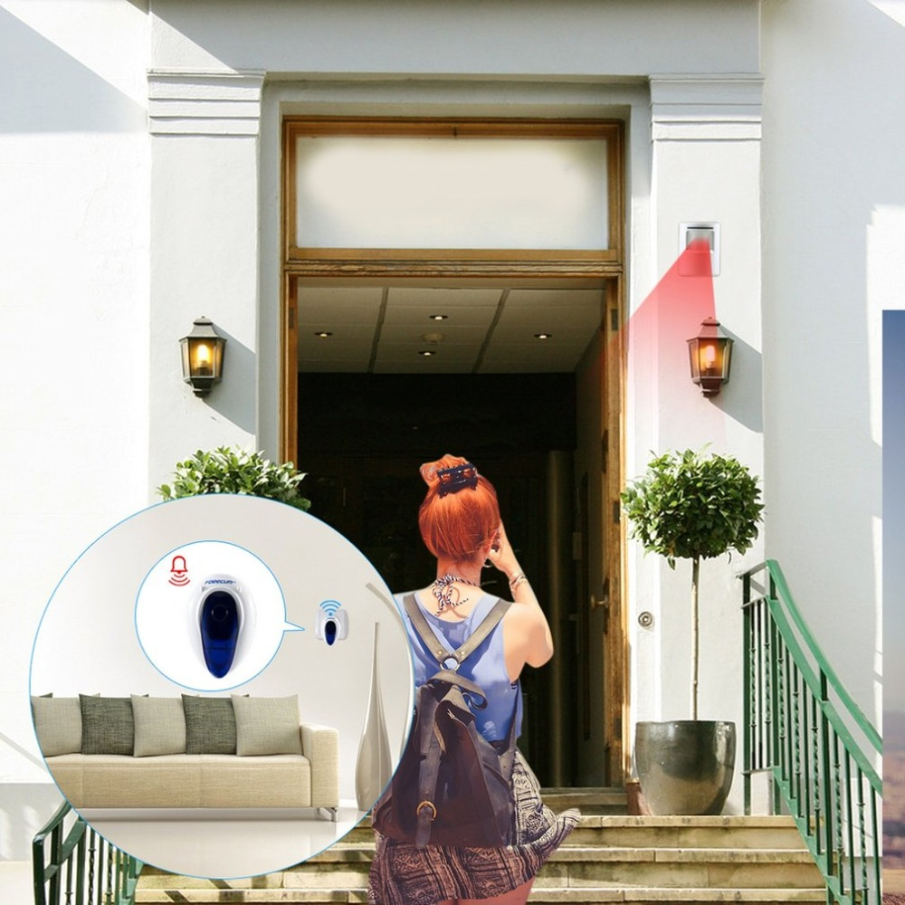 все цены на PIR Sensor Door Bell Forecum fk-007 Wireless Doorbell With 36 Songs Universal Smart Home Accessories US EU Plug 2018 онлайн