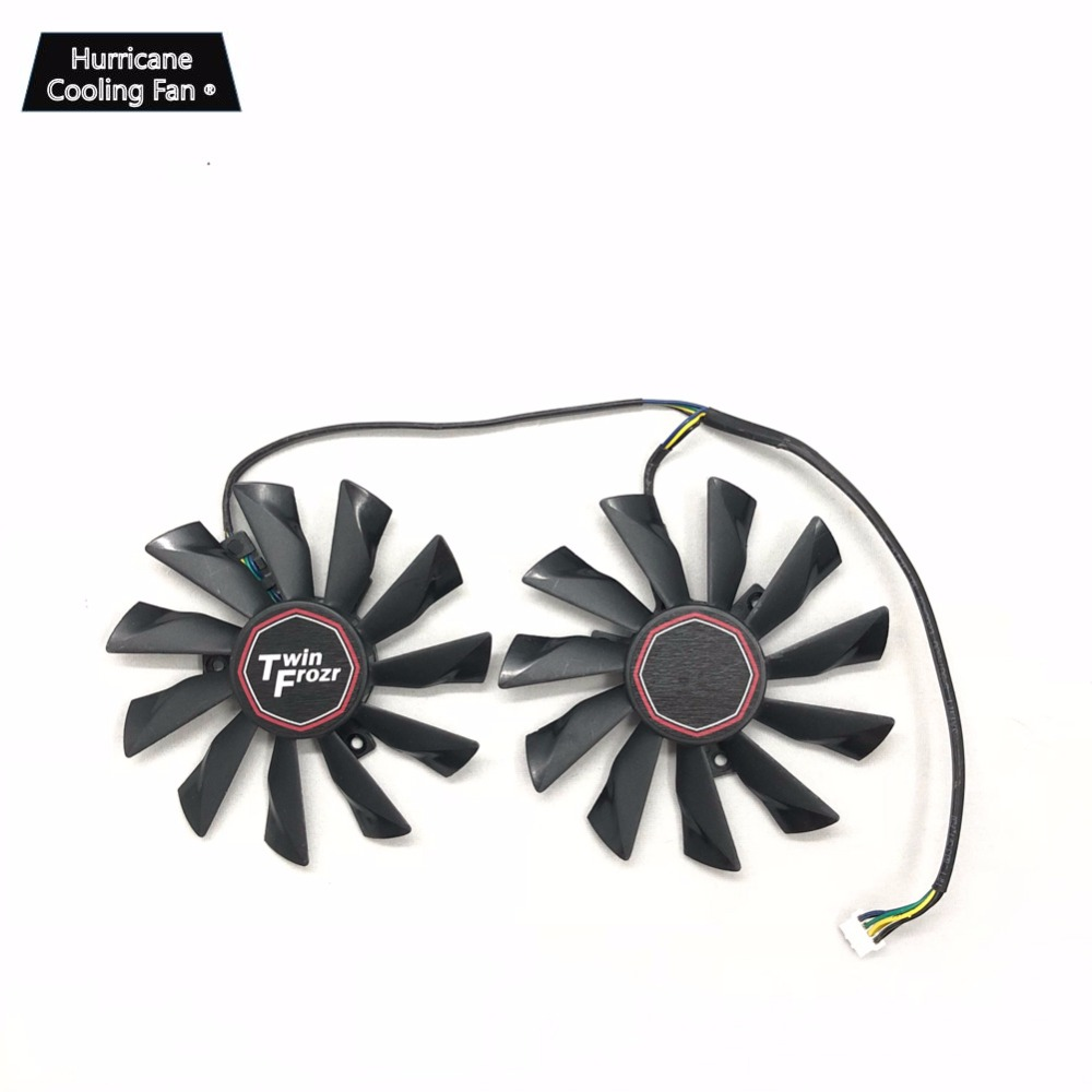 Image 2 - Новый охлаждающий вентилятор для видеокарты PLD10010S12HH 95 мм 4Pin для MSI GTX 780Ti/780/760/750Ti R9 290X/290/280X/280/270X игровой кулер-in Вентиляторы и охлаждение from Компьютер и офис