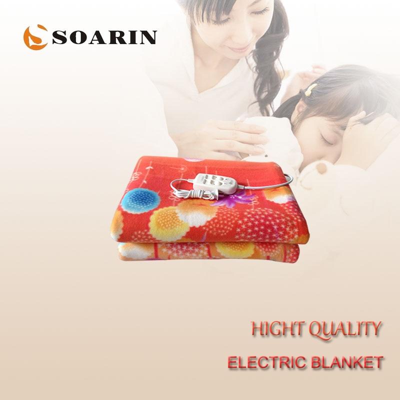 ᐂSoarin manta eléctrica calefacción felpa manta control doble