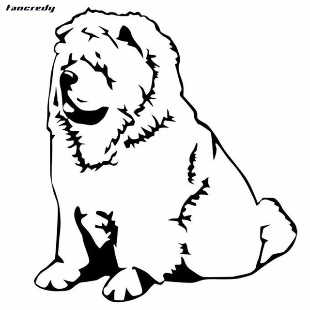 3d Funny Chow Chow Dog Car Stickers 15 2 13 5cm Fashion Motorcycle