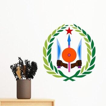 Djibouti emblema nacional desprendible sticker art Wall Decals mural DIY wallpaper para decalque de habitación