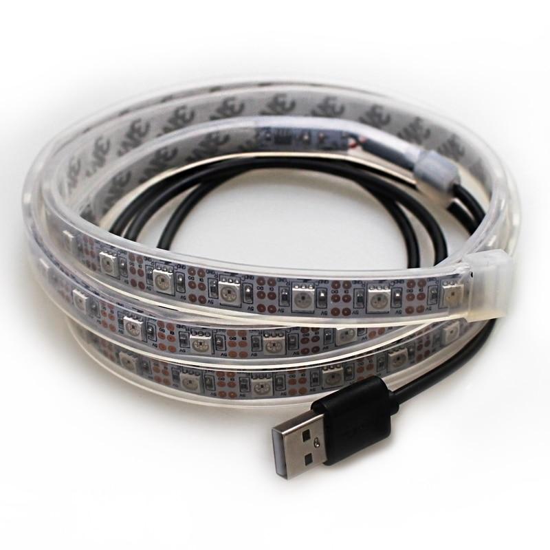 1M USB LED Strip İşıq piksel 5V SMD5050 w282812 60leds 60IC IP67 - LED işıqlandırma - Fotoqrafiya 5