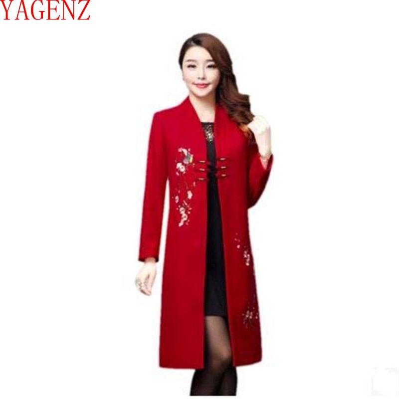YAGENZLarge size Wool coat Fashion Autumn and winter