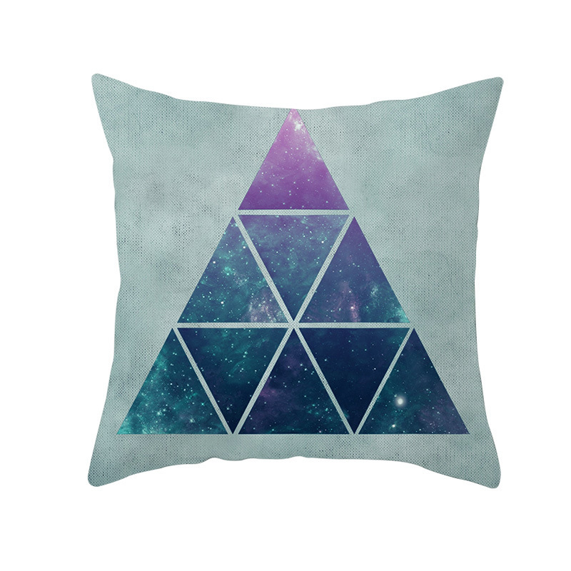 Geometric Colorful Plaid home decorative Pillows cushion cover Night Sky pattern throw pillow cover for sofa Nordic pillowcase in Cushion Cover from Home Garden