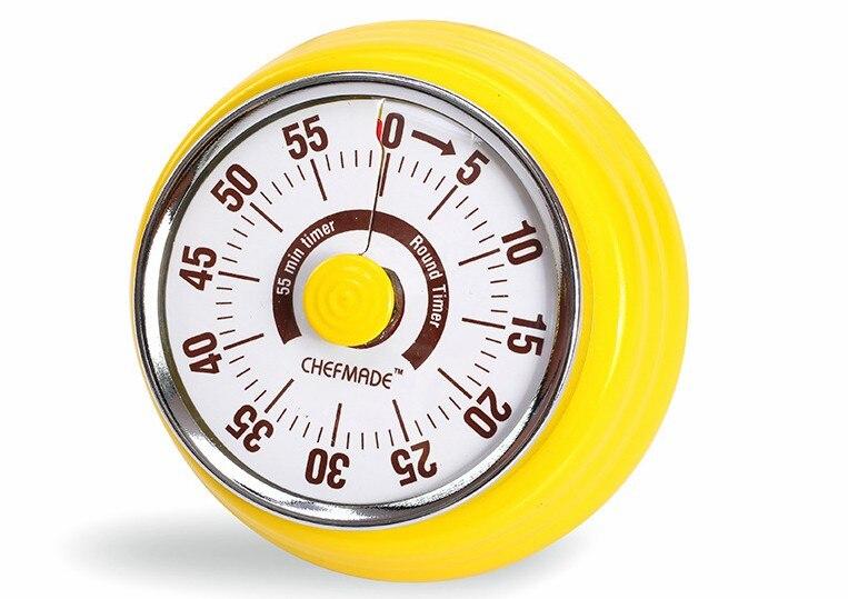 60 Minutes Mécanique Minuterie de Cuisine Cooking Alarme Horloge Cuisson Rappel laminé à Froid Feuille Manuel Compte À Rebours Minuterie