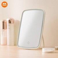 Новое оригинальное умное портативное зеркало для макияжа Xiaomi настольное светодиодное освещение Складная лампа зеркало Adajustable для спальни ...