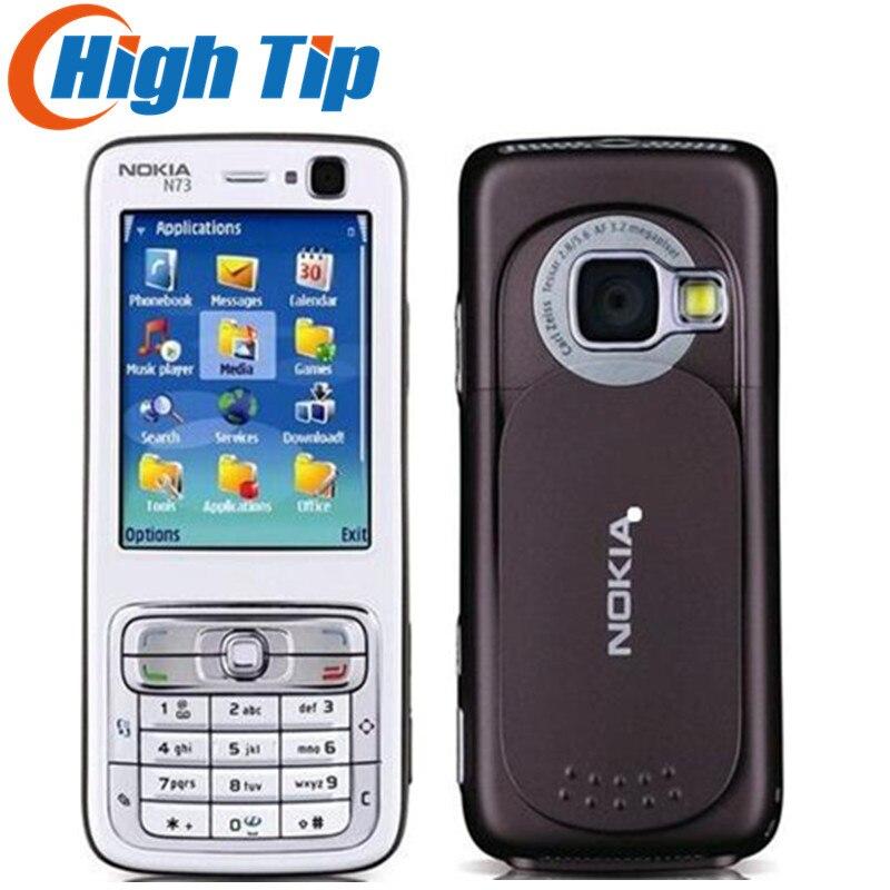 Rénové N73 D'origine Nokia N73 GSM 3G FM MP3 Bluetooth 3.15MP Téléphone portable Débloqué Livraison Gratuite Un En Stock!!!
