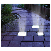 BIFI-3Pack LED Begraven Ondergrondse Baksteen Rock Lamp Waterdicht Solar Pathway Tuin Yard Lights Frosted Glas Zonne Baksteen Licht